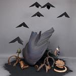 Linda Graham; Scorched Earth 2; Acrylic, styrofoam, clay, coal slag; 2015 -