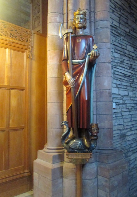Statue of St Olaf, St Magnus Cathedral, Orkney