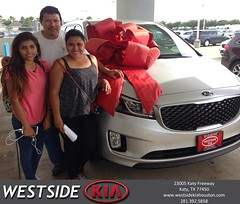 Happy Anniversary to Jose on your #Kia #Sedona from Abel Chacon at Westside Kia!