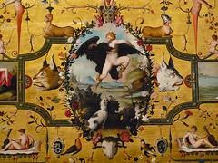 ALLORI Alessandro,1572 - Dossier de Lit avec Sc�nes Mythologiques et Grotesques, Le Rapt de Ganym�de, d'Apr�s MICHEL-ANGE (Florence) - Detail 02
