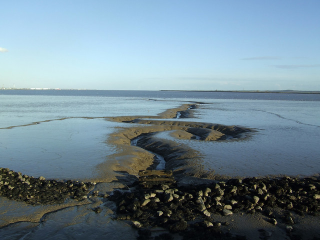 The Thames estuary at East Tilbury