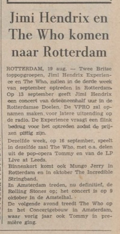 LIMBURGSCH DAGBLAD (NETHERLANDS) AUGUST 19, 1970