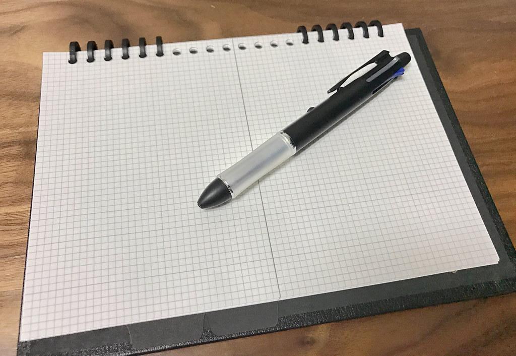 カレンダー手帳ノート部分平置き
