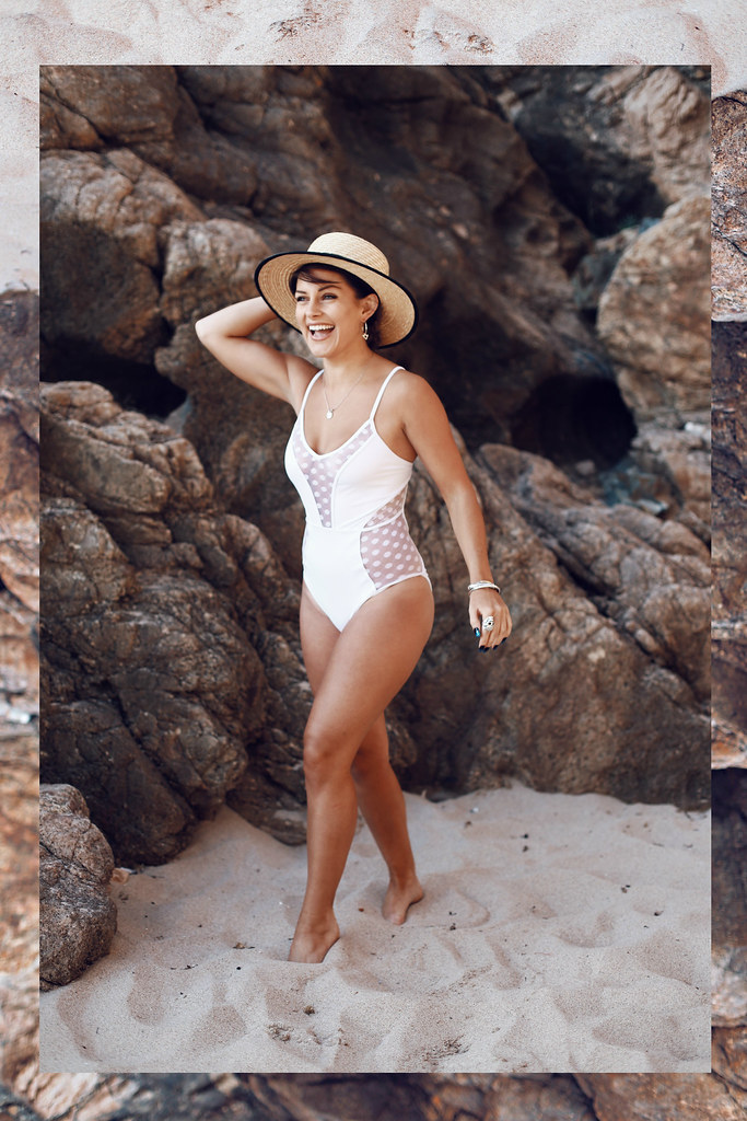 The Little Magpie New Look White Mesh Swimsuit Portugal