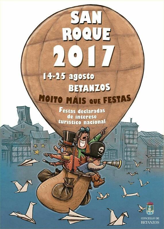 Betanzos 2017 - Festas de San Roque - cartel