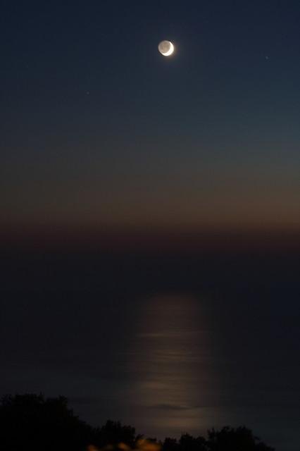 Coucher de Lune à Zambrone