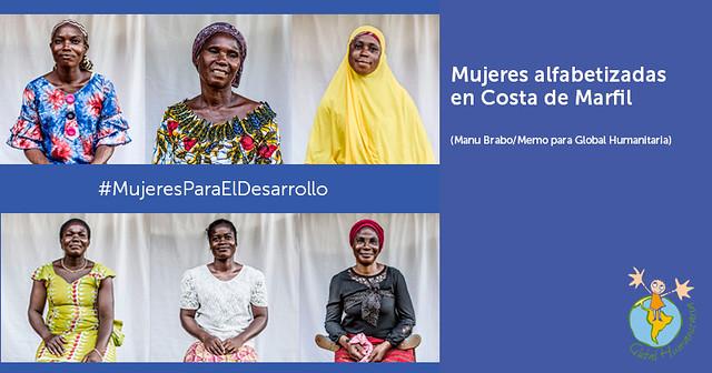 Mujeres alfabetizadas en Costa de Marfil