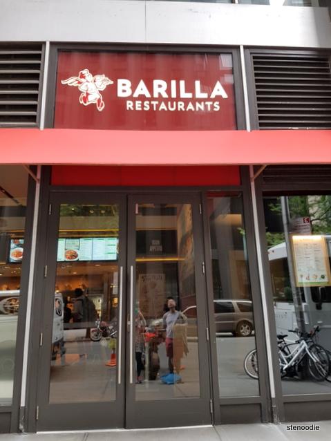 Barilla Restaurants storefront