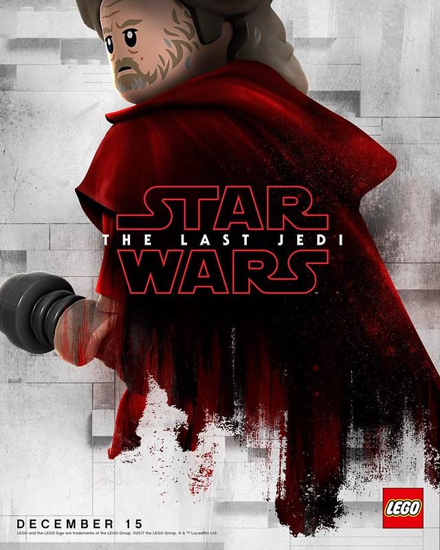 Plakaty LEGO z postaciami Star Wars The Last Jedi 1