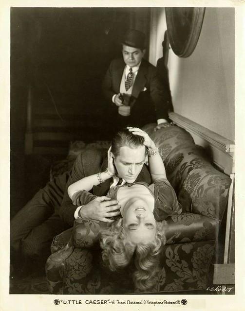 Edward G. Robinson, Douglas Fairbanks Jr., and Glenda Farrell in a publicity photo for film,