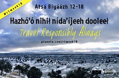 Hazhó'ó nihił nída'íjeeh dooleeł = Travel Responsibly Always #DinéBizaad #rtweek18 @NavajoToursUSA @NavajoWeb