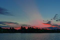 Sunset over Créteil, France