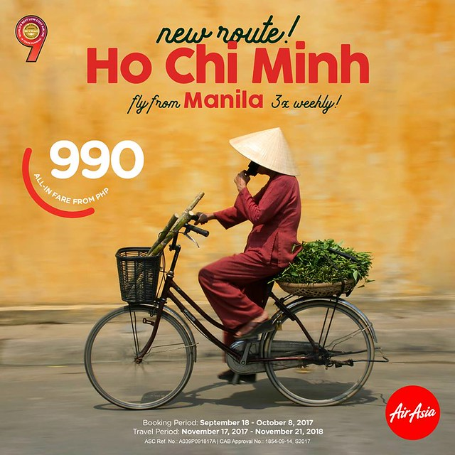 Manila to Ho Chi Minh AirAsia New Route