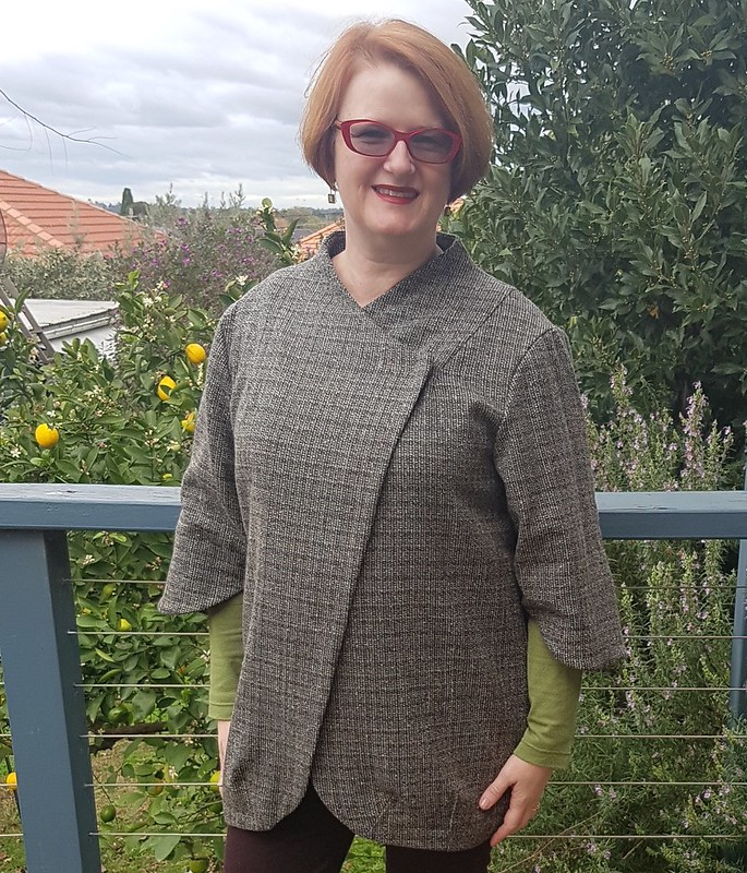 Lekala 4639 coat in wool blend from Rathdowne Fabrics