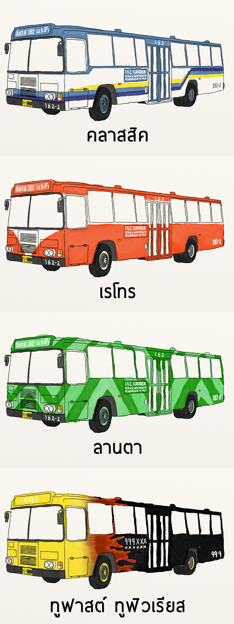 Alternative Bangkok Bus Colors