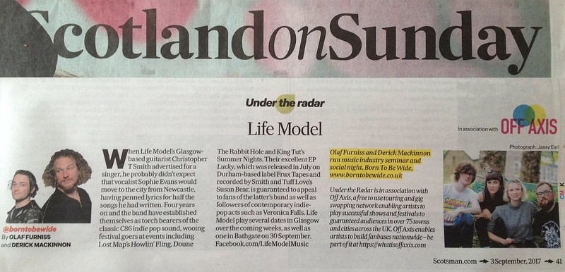 Scotland On Sunday, 3 September 2017, Life Model