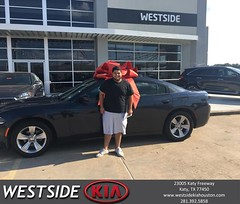 Congratulations Estevan on your #Dodge #Charger from Orlando Baez at Westside Kia!