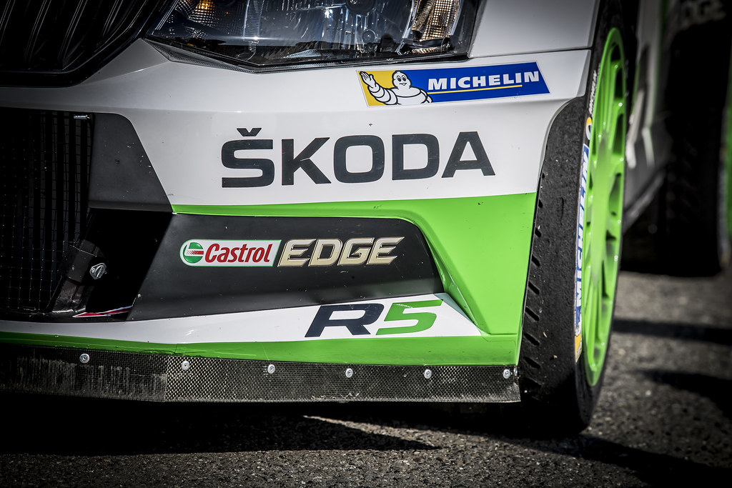 SKODA R5Illustration  during the 2017 European Rally Championship ERC Barum rally,  from August 25 to 27, at Zlin, Czech Republic - Photo Gregory Lenormand / DPPI