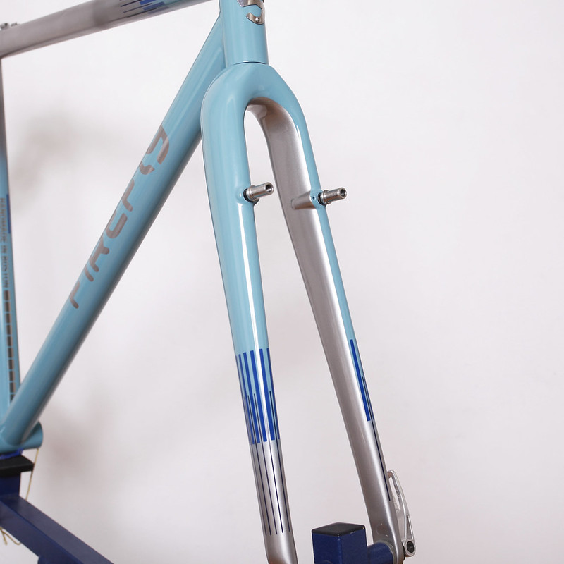 Firefly Stainless CX Frame & Enve Carbon Fork Repainted by Swamp Things.