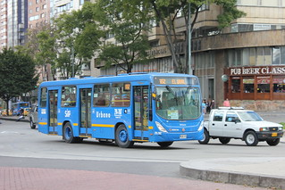 Blue Bus Route 652 in Bogota, Colombia