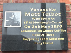 Photo of Matt Talbot black plaque