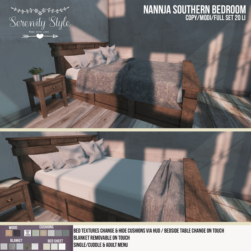 Serenity Style-Nannja Southern Bedroom - SecondLifeHub.com