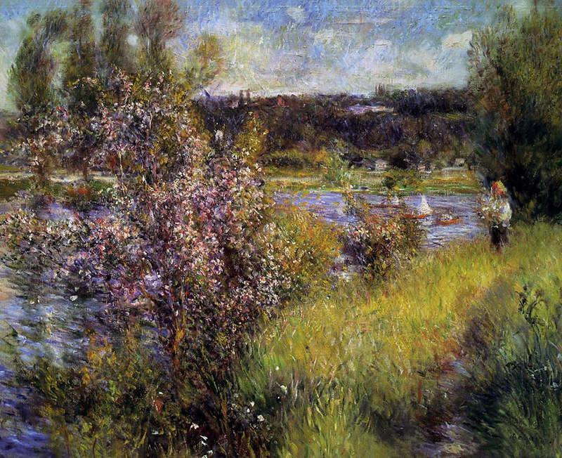 The Seine at Chatou by Pierre Auguste Renoir, 1881
