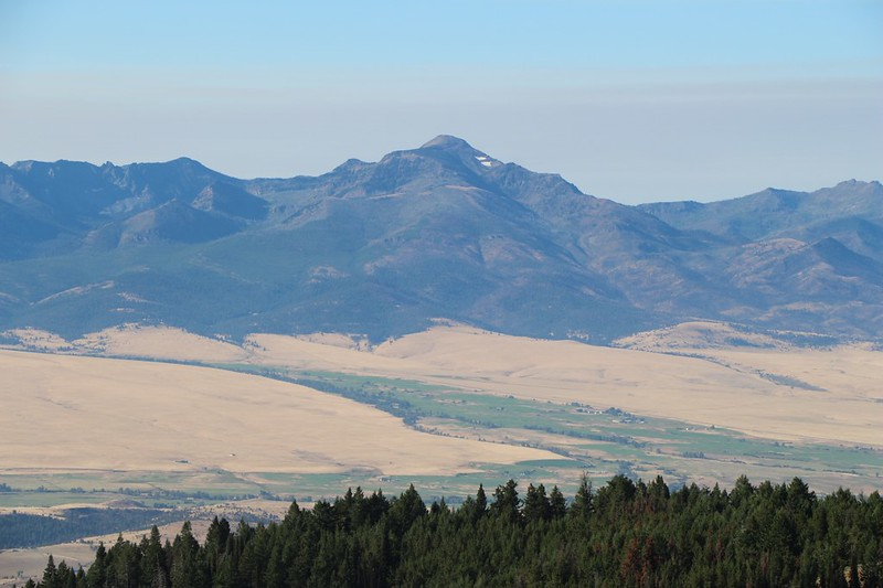 Zoomed-in view of Strawberry Mountain (elevation 9042 feet) from Dixie Butte - we almost went there to see the eclipse
