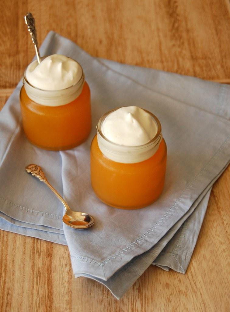 Tangerine prosecco gelatin / Gelatina de tangerina e prosecco