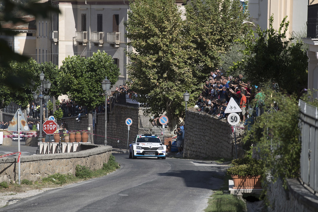 09 VON THURN UND TAXIS Albert (DEU) DEGANDT Bjorn (BEL) Skoda Fabia R5 action during the 2017 European Rally Championship ERC Rally di Roma Capitale,  from september 15 to 17 , at Fiuggi, Italia - Photo Gregory Lenormand / DPPI