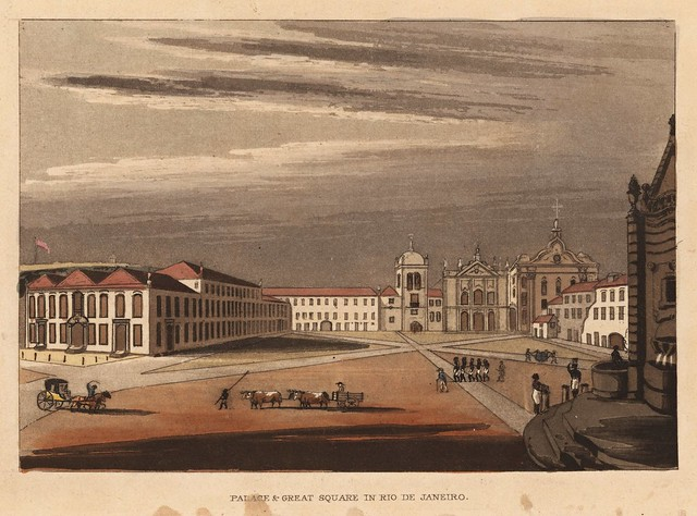 John Mawe (1764-1829) - View of the palace and great square of Rio de Janeiro in Brazil (1823)