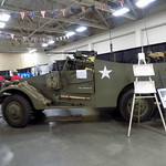 Military Vehicle In The Exhibit Hall.