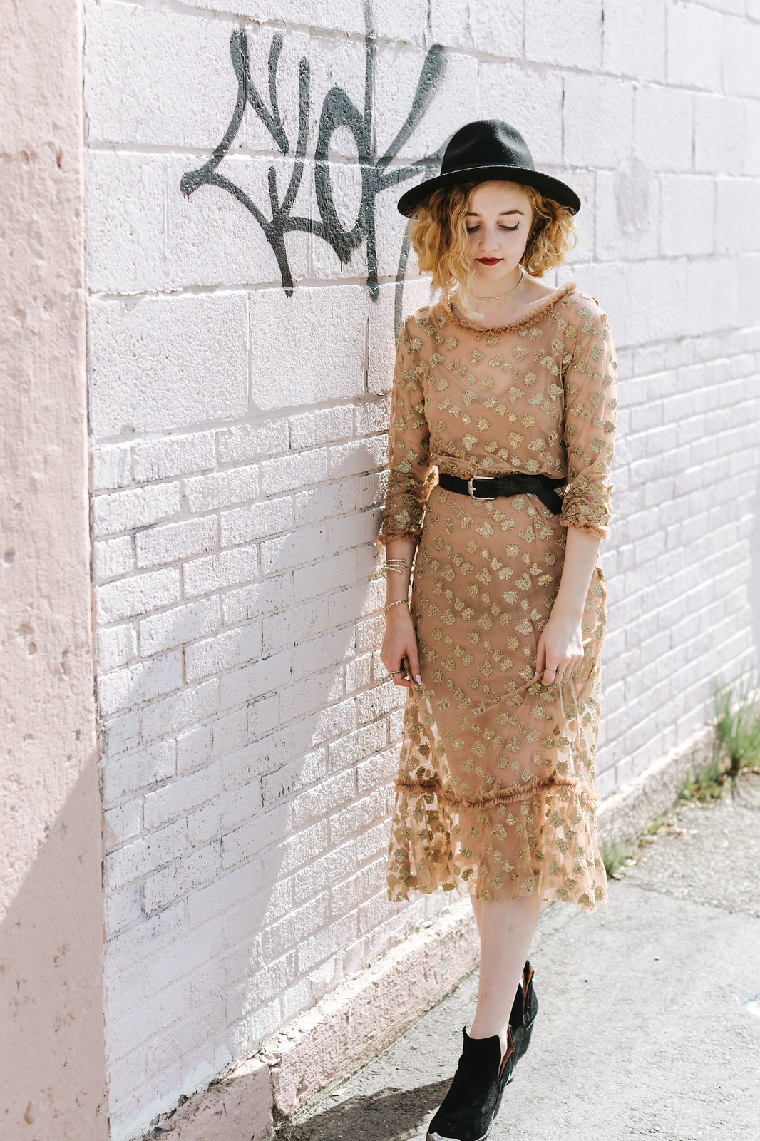Golden Garden Midi Dress by For Love and Lemons on juliettelaura.blogspot.com