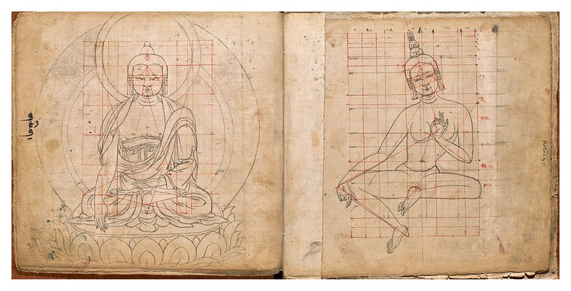 004-Tibetan pattern book of proportions- Getty Digital Collections