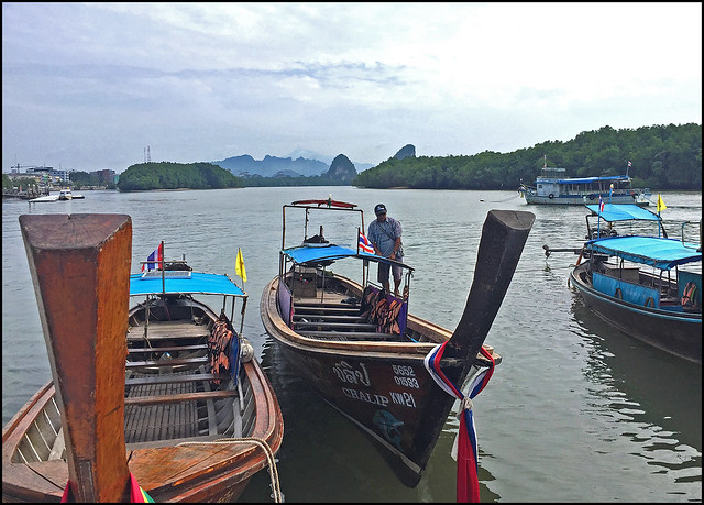 Longtail boats from Krabi Town to Railay