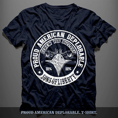 Proud American Deplorable. T-Shirt.