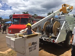 Hawaiian Electric at Touch-A-Truck at Kapolei Commons - August 19, 2017: Trucks, vehicles, and equipment, oh my!