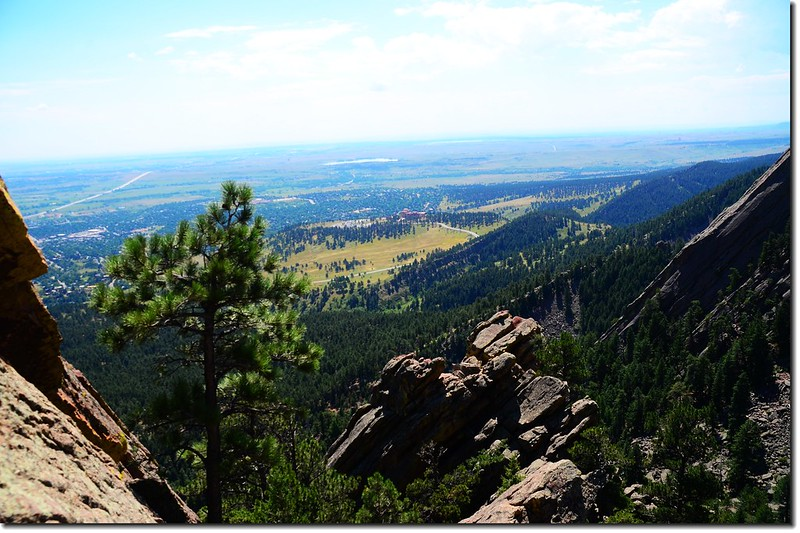 Looking south at NCAR from the 2nd Flatiron