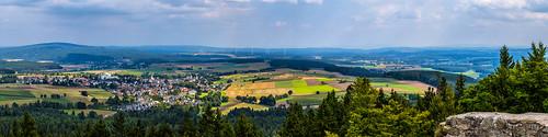 View over Kirchenlamitz - Upper Franconia, Germany