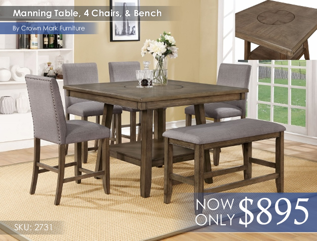 Manning Table 4 Chairs and Bench 2731[1]