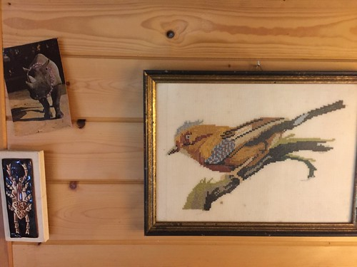 cabin kitchen wall decoration embroidery bird gaai