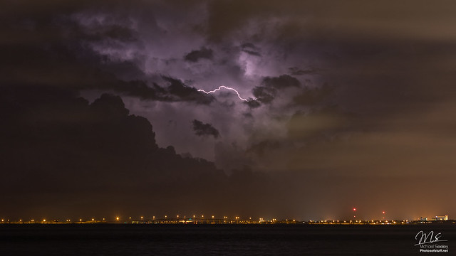 Lightning over the Space Coast