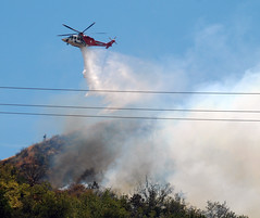Newest LAFD Helicopter Fights First Blaze