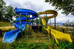 Abandoned water slides, Nevers, France