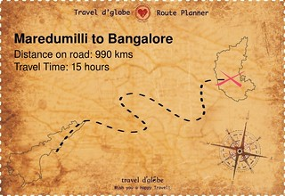 Map from Maredumilli to Bangalore