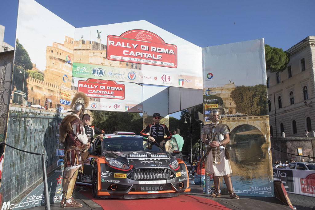 LUKYANUK Alexey (RUS) ARNAUTOV Alexey (RUS) Ford Fiesta R5 ambiance Portrait during the 2017 European Rally Championship ERC Rally di Roma Capitale,  from september 15 to 17 , at Fiuggi, Italia - Photo Gregory Lenormand / DPPI