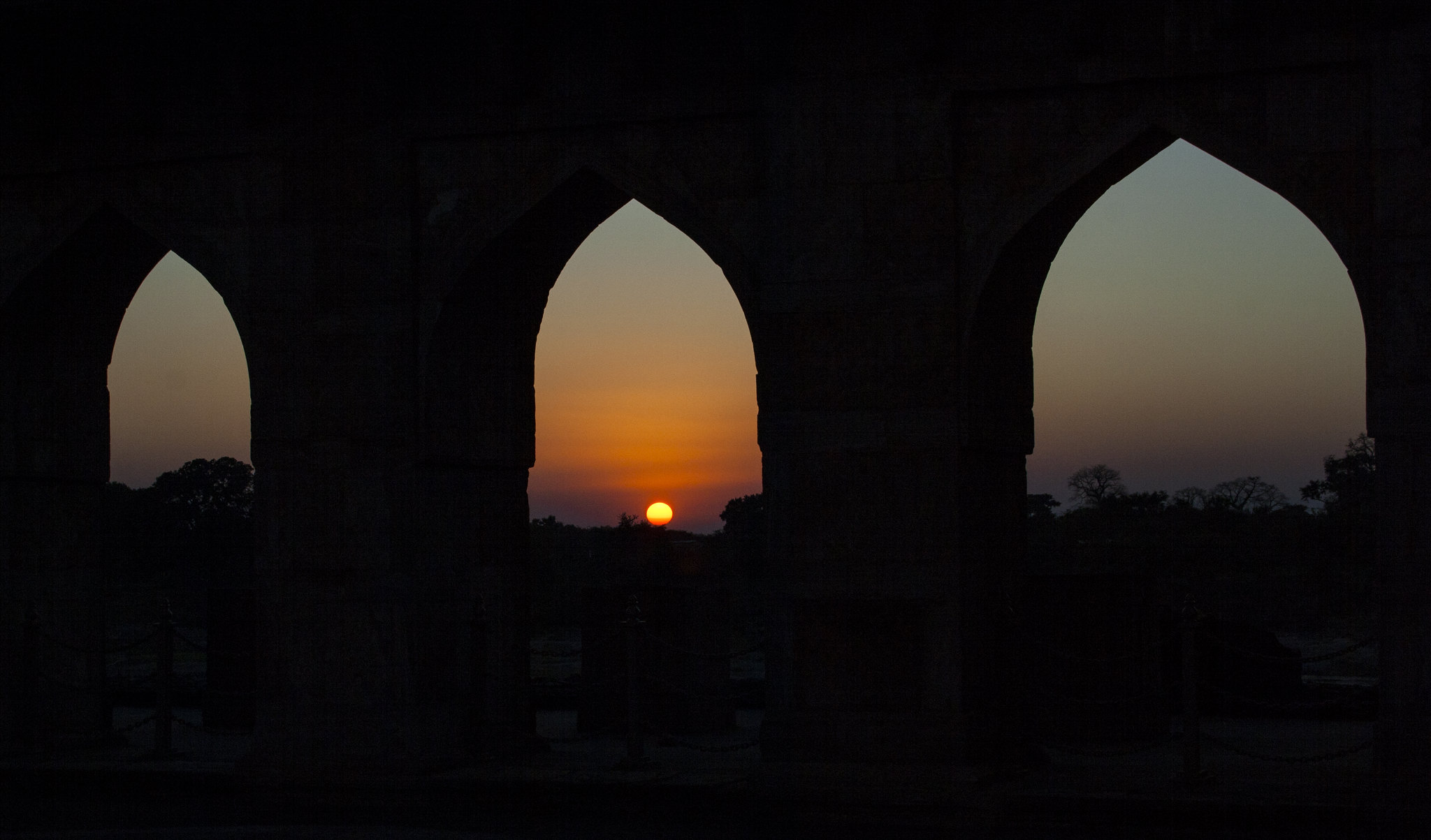 Jahaz Mahal in Mandu, Madhya Pradesh, India