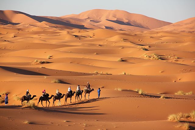 Landscape of the Erg Chebbi