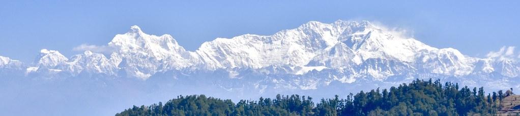 Kanchenjunga-Trekking in Nepal. Jannu, 7711 m und der Kanchenjunga/Kantsch/Kangchendzönga, 8598 m. Foto: Dr. Franz Bundscherer.