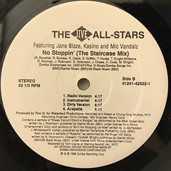 THE JIVE ALL STARS:NO STOPPIN'(LABEL SIDE-B)